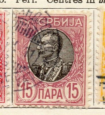 Serbia 1904-05 Early Issue Fine Used 15pa. 265403