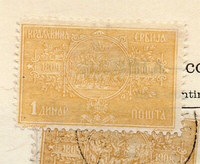Serbia 1904-05 Early Issue Fine Mint Hinged 1d. 265397