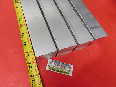 "4 Pieces 1-1/2"" X 1-1/2"" ALUMINUM SQUARE 6061 T6511 SOLID EXTRUDED BAR 20"" long"