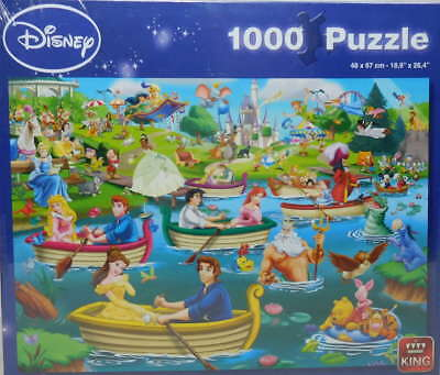 king Puzzle 1000 Teile Disney 5260 Fun on the Water Prinzessinen Belle Aurora Ho