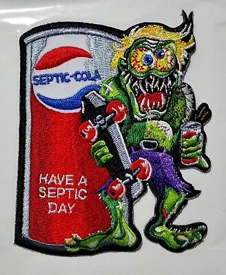 Septic Cola  Advertising Parody Embroidered Patch Wacky Packages Gross Scheres