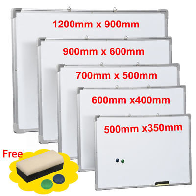 Magnetic Dry Wipe Whiteboard & Eraser Memo Notice Drawing Presentation School