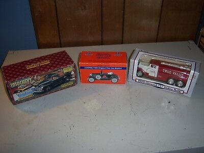 Ertl Die Cast 1950 Pickup Truck Cooper Tire Test Car & 1930 Diamond Tanker Bank