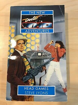 7th Dr Doctor Who New Adventures Book - HEAD GAMES - by Steve Lyons (Mint New)