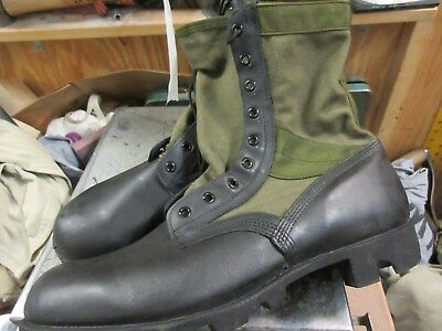 Wellco Spike Protective Green Jungle Tropical Boots Size 12 1/2 Regular New Nos