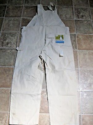 NOS SEARS Tradewear Bib Overalls Men's 40 x 30 Ivory with TAGS Made in USA