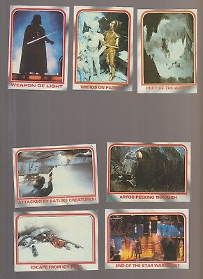 Lot of 7 Star Wars Empire Strikes Back movie trading cards Pub. 1980