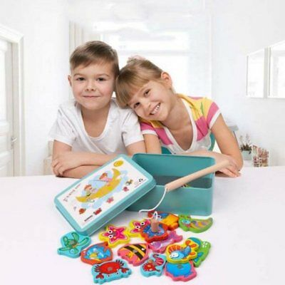 Magnetic Fishing Toy Baby Educational Game Set Marine Biological Congnition Kids