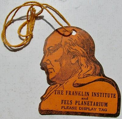 1940s/50s The Franklin Institute Planetarium Philadelphia PA Paper Admission Tag