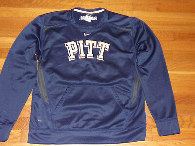 56562818f66c Nike Therma-Fit Pitt Panthers Long Sleeve Navy Blue Pullover Mens Medium  Exc.