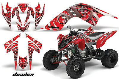 ATV Graphics Kit Quad Decal Sticker Wrap For Yamaha Raptor 700 06-12 DEADEN RED