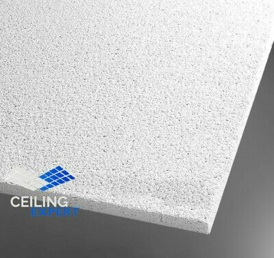 Suspended Sandtone Surf Acoustic Ceiling Tiles 595x595 Square Edge 600x600mm Box