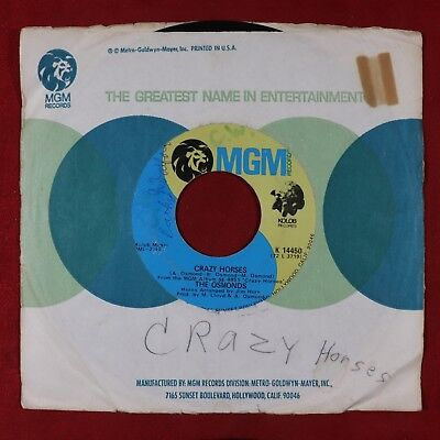 ''Crazy Horses'' by The Osmonds, 45 RPM ©  (Bx07-043)