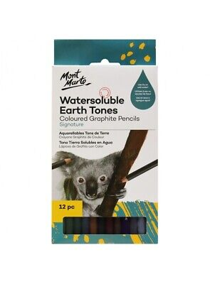 Mont Marte Graphite Earth Tones 12pce