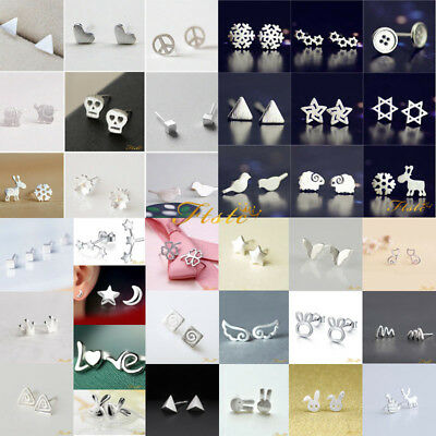 Fashion Womens Girl 925 Sterling Silver Earrings Ear stud Cute Jewelry Gift New