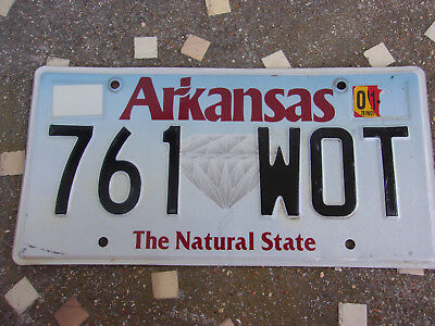 Vintage License Plate Sign Tag 2009 Arkansas Graphic Diamond Natural State