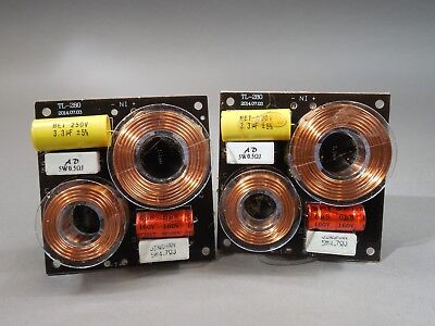 Pair of 12db Crossover 2 Way 300 Watt 8 OHM TL-280