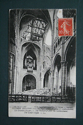 02 Aisne Soissons Cathedrale Courrier Militaire Du Front 1916
