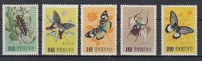 China Taiwan  282/83 + 285-87  Insekten  Schmetterlinge   ** (mnh)