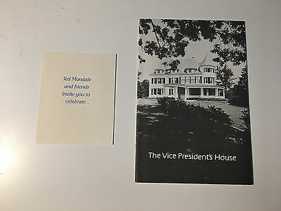 Walter Mondale Jimmy Carter Vice President House and Pamphlet Invitation Ted