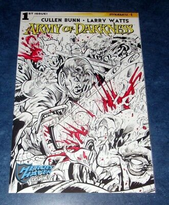 ARMY OF DARKNESS v4 #1 O HEROES HAVEN exclusive variant DYNAMITE ASH SPACE NM