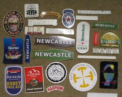25 BEER STICKER PACK LOT decal craft beer brewing brewery tap handle A
