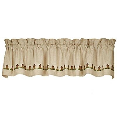 New Primitive Country Farmhouse Chic OUTHOUSE VALANCE Curtains