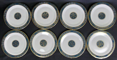"""8 ROYAL DOULTON CARLYLE H5018, 27cm 10"""" DINNER PLATES, GOOD CONDITION, ENGLAND"""