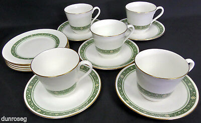 Royal Doulton Rondelay, H5004, 5 Trios Of Teacups, Saucers, Side Plates, England