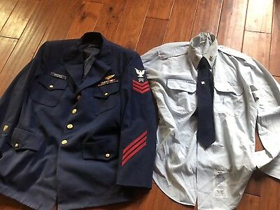 US Coast Guard Coat with Wings , Bar Ribbons, Shirt , and Tie