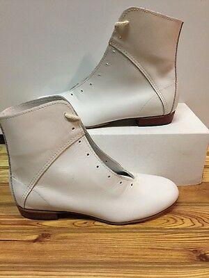 High Country, Size 6.5M WOMENS Clogging Tap Dance boots, Shoes, (no Taps) WHITE