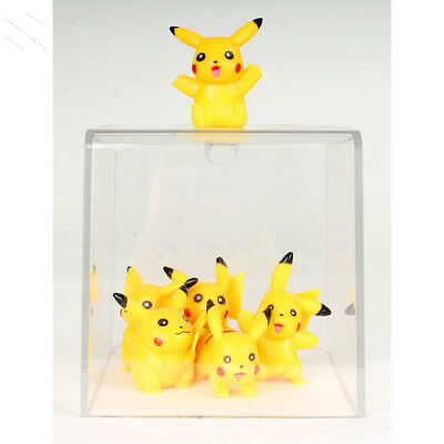 POKEMON GO PIKACHU Monster Cute Figures 6pcs Doll Cup Cake Toy Gift 2