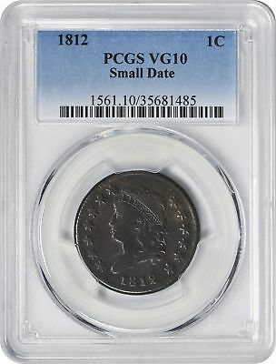 1812 Large Cent Small Date VG10 PCGS