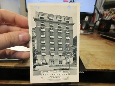 Vintage Old Postcard WASHINGTON DC Martinique Hotel 16th Street at M Avenue B&W