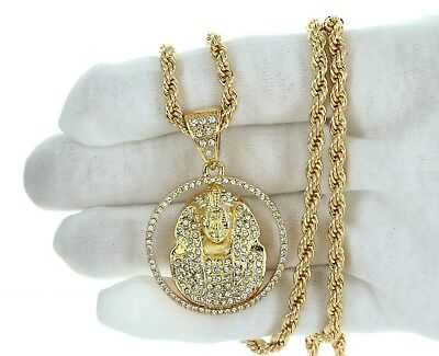 450213e0a6701 NEW 14K GOLD PLATED C-CUBAN LINK NECKLACE CHAIN (4.5mm to 9.5mm ...