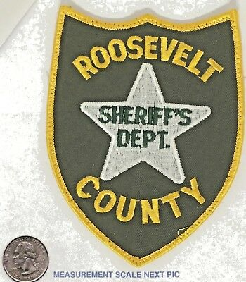 Roosevelt County Montana Sheriff's Office Patch Removed O/S Vintage Cheesecloth
