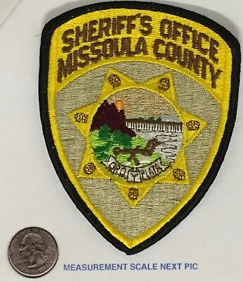 Missoula County Montana Sheriff's Department Patch Unused Cloth Back