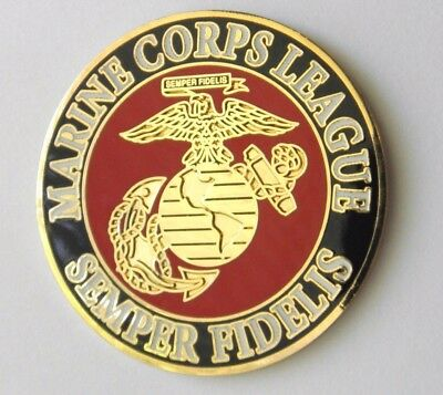 Us Marine Corps League Usmc Marines Semper Fidelis Lapel Pin Badge 1.5 Inches