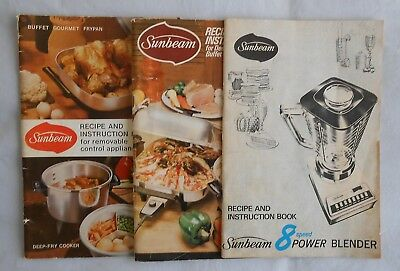 Sunbeam instruction booklets