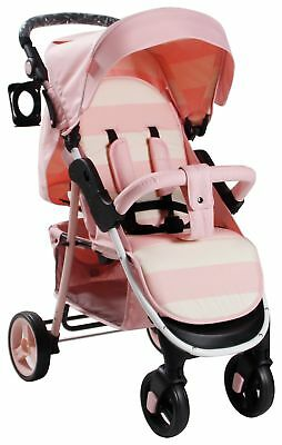 My Babiie Billie Faiers MB30 Pink Stripe Pushchair.