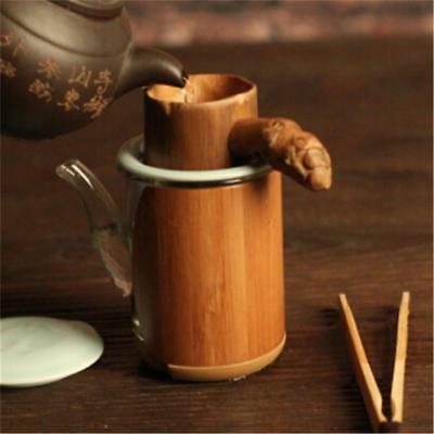 Natural Bamboo Root China Gongfu Loose Tea Ceremony Strainer Filter Strainer LC