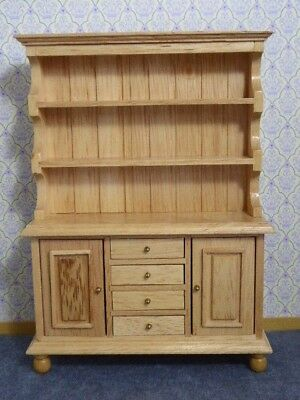 Dolls House Miniature 1:12 Scale Kitchen Dresser Pine