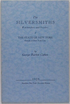 Antique New York State Silversmiths Jewelers & Watchmakers Outside New York City