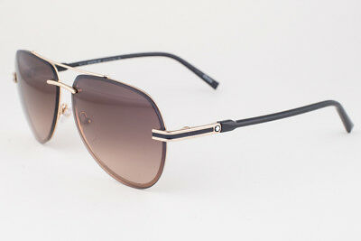 e13f9209d62e AUTHENTIC MONTBLANC BRAND Men's MB643S 32F Aviator Gold Brown Lens ...