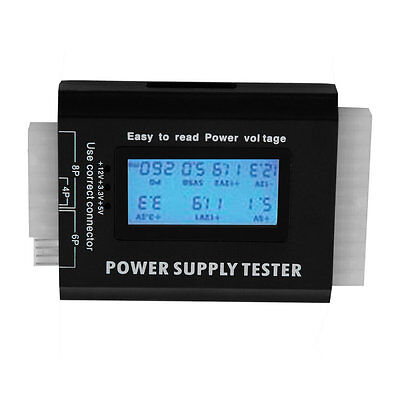 Digital LCD PC Computer PC Power Supply Tester 20/24 Pin SATA HDD Testers  X*