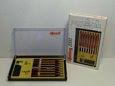 ----------- ROTRING COLLEGE SET isograph 2000 Tuschefüller 8er Set NEW -------