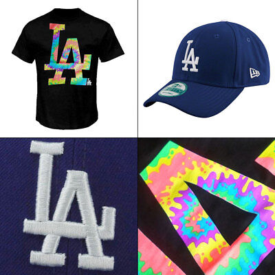 LA Dodgers West Coast Style Officially Licenced MLB T shirt + New Era 9FORTY Cap