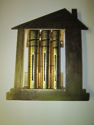 Vintage Metal FIRST NATIONAL BANK w/ Money Counter Feature