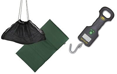 Anglers Weigh set Digital Scales,Sling & Unhooking mat carp / pike fishing