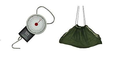 Ngt weigh sling and Small Scales with Tape Measure 22kg / 50lb coarse fishing